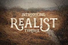 Realist typeface font display is made by hand, inspired by classic posters. With a combination of highly vintage feels and the OpenType features