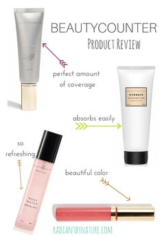 Beautycounter review tint skin, hydrate lotion, rosewater and lip gloss http://www.beautycounter.com/nicolebrinson