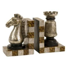 Product Details - Imax Worldwide 53006-2 Set of 2 Chess Bookends | StylishHome
