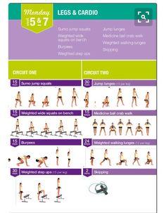 28 best bbg 10 images on pinterest exercise routines kayla kayla itsines monday 5 legs and cardio fandeluxe Choice Image