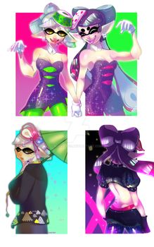 Calamari Inkantation by kiana-bee Nintendo Splatoon, Splatoon Comics, Squid Games, Splatoon Squid Sisters, Callie And Marie, Super Mario Bros, Art Pictures, Memes, Videogames
