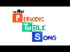 Learn the Periodic Table of Elements with this handy song