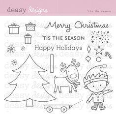 "Digital Stamp Art ""Tis the Season"" on Etsy, $4.99"
