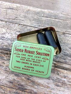 Antique medical tin Silver nitrate solution by Oddacious, $18.00 Too bad it actually causes blindness