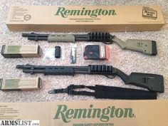 ARMSLIST - For Sale: 2 - Remington 870 Tactical Magpul - Never fired (one black, one FDE)