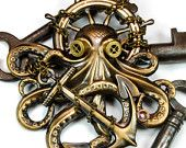 Steampunk Pin Steampunk Hat Pin Octopus Brooch Kraken Cthulhu Steampunk Goggles Steam Punk Pirate Steampunk Jewelry By Victorian Curiosities. $38.00, via Etsy.
