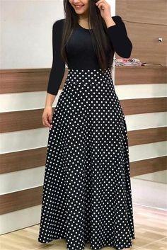 29418936431 VITIANA Women Maxi Long Floor Length Dress Female 2018 Autumn Long Sleeve  Pink Floral Print High
