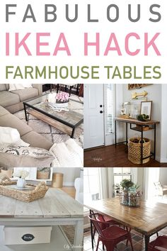 Most up-to-date No Cost Fabulous IKEA Hack Farmhouse Tables Make a gorgeous Farmhouse Table for your Hom. Tips On among my very frequent visits to IKEA I came across cheaper lacking platforms that have been the Ikea Hemnes Coffee Table, Coffee Table Hacks, Ikea Hacks, Ikea Furniture Hacks, Furniture Outlet, Discount Furniture, Ikea Glass Table, Ikea Table, Farmhouse Entryway Table