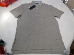 Mens Tommy Hilfiger Polo shirt XL xlarge xlg solid NEW 7848707 Grey Heather 004 #TommyHilfiger #polo