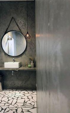Home Design Decor, Modern House Design, Interior Design, Home Decor, House Plans South Africa, Bathroom Interior, Men's Bathroom, Bathrooms, Concrete Bathroom