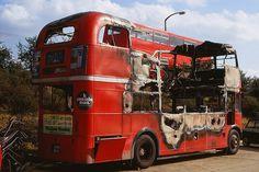 LT Aldenham Works RM1659 4.73 | Flickr - Photo Sharing! Derelict Buildings, Routemaster, Double Decker Bus, London History, Bus Coach, London Bus, London Transport, Bus Conversion, Vintage London