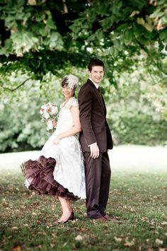sposo in marrone