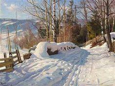 Solrig vinterdag, Norge , 1919 - Peder Mørk Mønsted