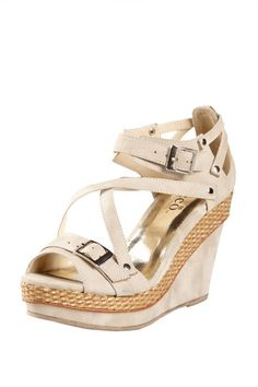 Bucco Asia Strappy Buckle Wedge by Time for Spring on @HauteLook