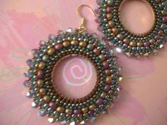 Hoop Earrings RAIN GODDESS Seed Bead Hoop Earrings by WorkofHeart