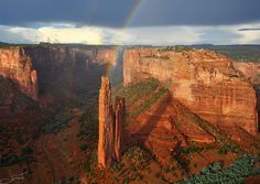 Double Rainbows at Spider Rock, Canyon de Chelly by tsaiproject