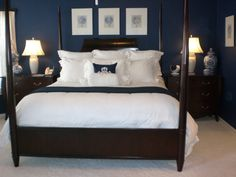 Navy Blue Oasis***Take Two, Same theme different bedding  furniture and accessories., Bedrooms Design