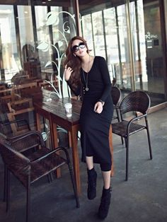 Women Korean Style V-Neck Long Sleeve Pure Color Dress Blackhttp://www.clothing-dropship.com/women-korean-style-v-neck-long-sleeve-pure-color-dress-black-28size-s-xxl-29-g2364183.html