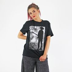 The Cure Licenced Authentic Black And White Boys Don't Cry T Shirt White Boys, Black And White, Boys Don't Cry, Dont Cry, The Cure, Short Sleeves, Rock, Tees, T Shirt