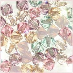 48 4mm Xilion 5328 Tenderness Mix Swarovski Crystals Bicone Pink Green Peach  $4.98 at CDVDMart