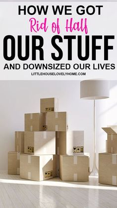 Four years ago, my husband and I were living in a large home with loads of stuff all around us. We had a toddler, a low income and a large mortgage payment (relative to the income, anyways). Organizing Paperwork, Home Organization Hacks, Creative Storage, Smart Storage, Small Space Living, Small Spaces, Simple Living, Home And Living, Downsizing Tips
