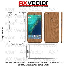 Google Pixel XL Template, Accurate Contour Cut for Skins or Decals