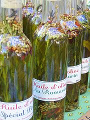 Home made infused Olive Oil Favors...