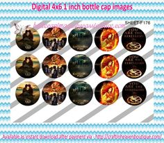 """1"""" Bottle Caps (4X6) F176 catching fire celebrities bottle cap images #celebrities #bottlecap #BCI #shrinkydinkimages #bowcenters #hairbows #bowmaking #ironon #printables #printyourself #digitaltransfer #doityourself #transfer #ribbongraphics #ribbon #shirtprint #tshirt #digitalart #diy #digital #graphicdesign please purchase via link http://craftinheavenboutique.com/index.php?main_page=index&cPath=323_533_42_60"""