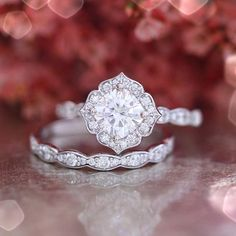Gorgeous Forever One wedding set by LaMore Design
