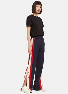Gucci Striped Popstud Seam Track Pants | LN-CC