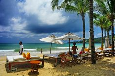 beach lounge, Kamala Beach, Phuket, Thailand
