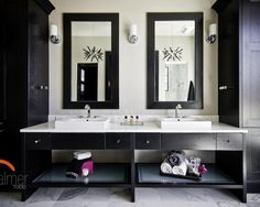 Black Bathroom Cabinet Mirror Design, Pictures, Remodel, Decor and Ideas - page 3