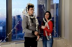 Emeraude Toubia and Harry Shum Jr.