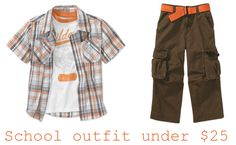 School outfit under $25. Closet made with the Walmart Back to School Closet Creator. Check it out and make your own at http://www.walmart.com/backtoschoolcloset