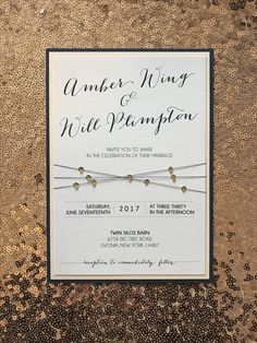 Rose gold and navy wedding invite. Perfection. DIY with paper from cards and pockets.com