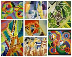 "Born on April 12, 1885, Robert Delaunay was a ""French painter who first introduced vibrant colour into Cubism and thereby originated the trend in Cubist painting known as Orphism. He was one of the earliest completely nonrepresentational painters, and his work affected the development of abstract art based on the compositional tensions created by juxtaposed planes of colour."" (www.britannica.com) Learn more at http://www.britannica.com/EBchecked/topic/156349/Robert-Delaunay"