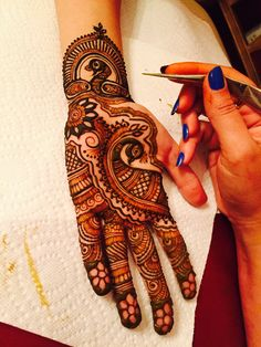 Drawing birds like doves, peacocks, etc., on beautiful bride's hands, is an age-old design which is still quite popular. Birds are synonymous with the beginning of a new life and freedom.