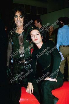#ADVOCATE1612 Brian Molko and Alice Cooper