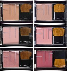 Maybelline FIT me! Have top row in Deep + Medium Nude, no brushes.
