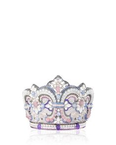 """Judith Leiber Couture  Crystal Crown Clutch Bag, Silver  Made in Italy  """"Hello, This is the Duchess of Cambridge Secretary we would like to PRE-ORDER."""""""