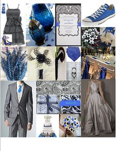 Blue wedding. View more tips & ideas on our Facebook Page : https://www.facebook.com/BoutiqueBridalParty