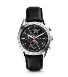 MICHAEL KORS ACCELERATOR SILVER-TONE STAINLESS STEEL AND LEATHER WATCH $225.00 STORE STYLE #: MK8384 Exuding utilitarian sophistication, the Accelerator watch is made for the man on the move. Crafted with a sleek, silver-tone bezel and sub dials, this stylish and sturdy timepiece offers a study in subtle contrast. The classic design and built-to-last case mean you can count on it for seasons to come.