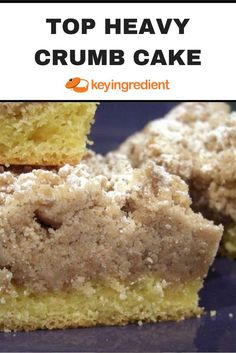 This top heavy crumb cake is a thick huge scrumptious crumbs on top of a tasty thin layer of coffeecake! Life doesn't get much better than this, enjoy! Mini Cakes, Cupcake Cakes, Cupcakes, Crumb Coffee Cakes, Crumb Cakes, Coffee Cake Muffins, Just Desserts, Delicious Desserts, Mugcake Recipe