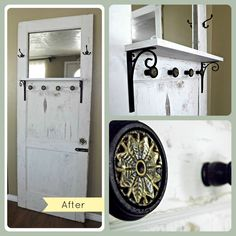 old doors repurposed | Far Too Chic To Be Shabby: Repurposed Door