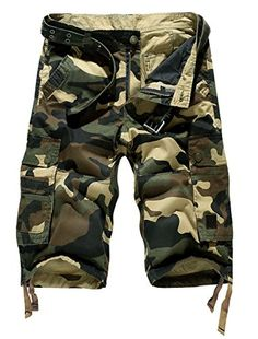 Vcansion Womens Casual Cotton Elastic Waist Drawstring Loose Fit Outdoor Multi-Pockets Cargo Shorts
