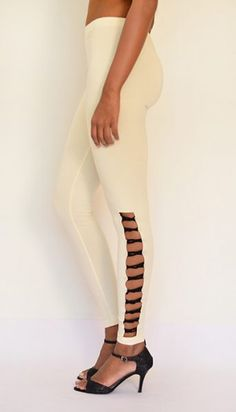 """Side Loop Detail Leggings"" Cotton & Lycra – Ankle Length. Shop Now : https://www.estrolo.com/product-category/women/leggings/ #Leggings #StyliagLeggings #EstroloFashion"