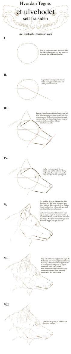 Wolf Head Side, Tutorial - Norwegian by CasArtss