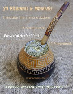Yerba Mate health benefits. Nutritional facts.
