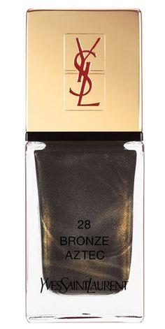 Most Popular Nail Colors Fall 2014: Yves Saint Laurent Bronze Aztec.