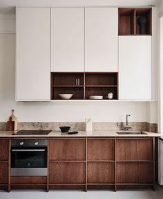 Kitchen Cabinet Design, Interior Design Kitchen, Kitchen Decor, Interior Modern, Layout Design, Küchen Design, Design Ideas, Nordic Kitchen, Scandinavian Kitchen